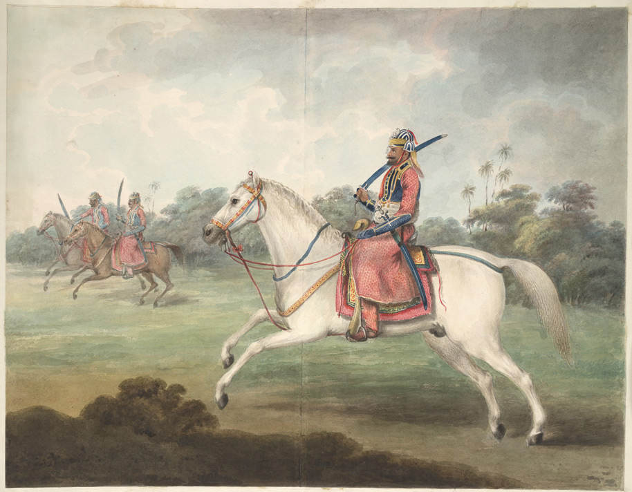 A Rohilla horseman, with two others beyond